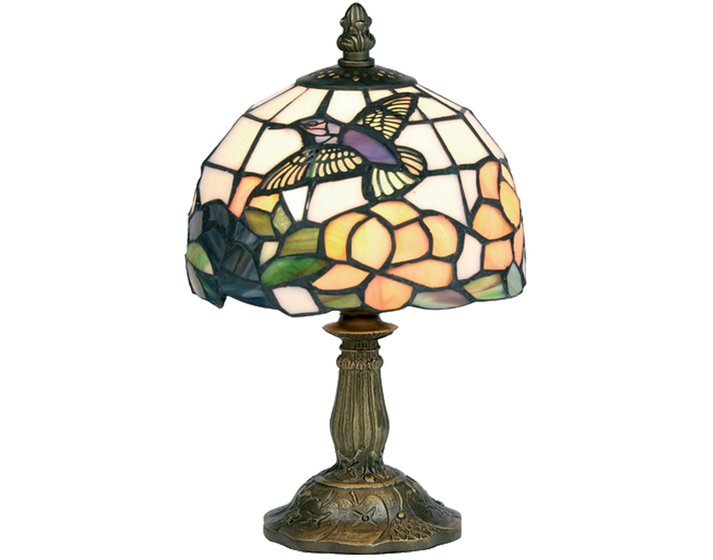 Oaks Lighting Humming Bird Tiffany Table Lamp - OT 50 HB