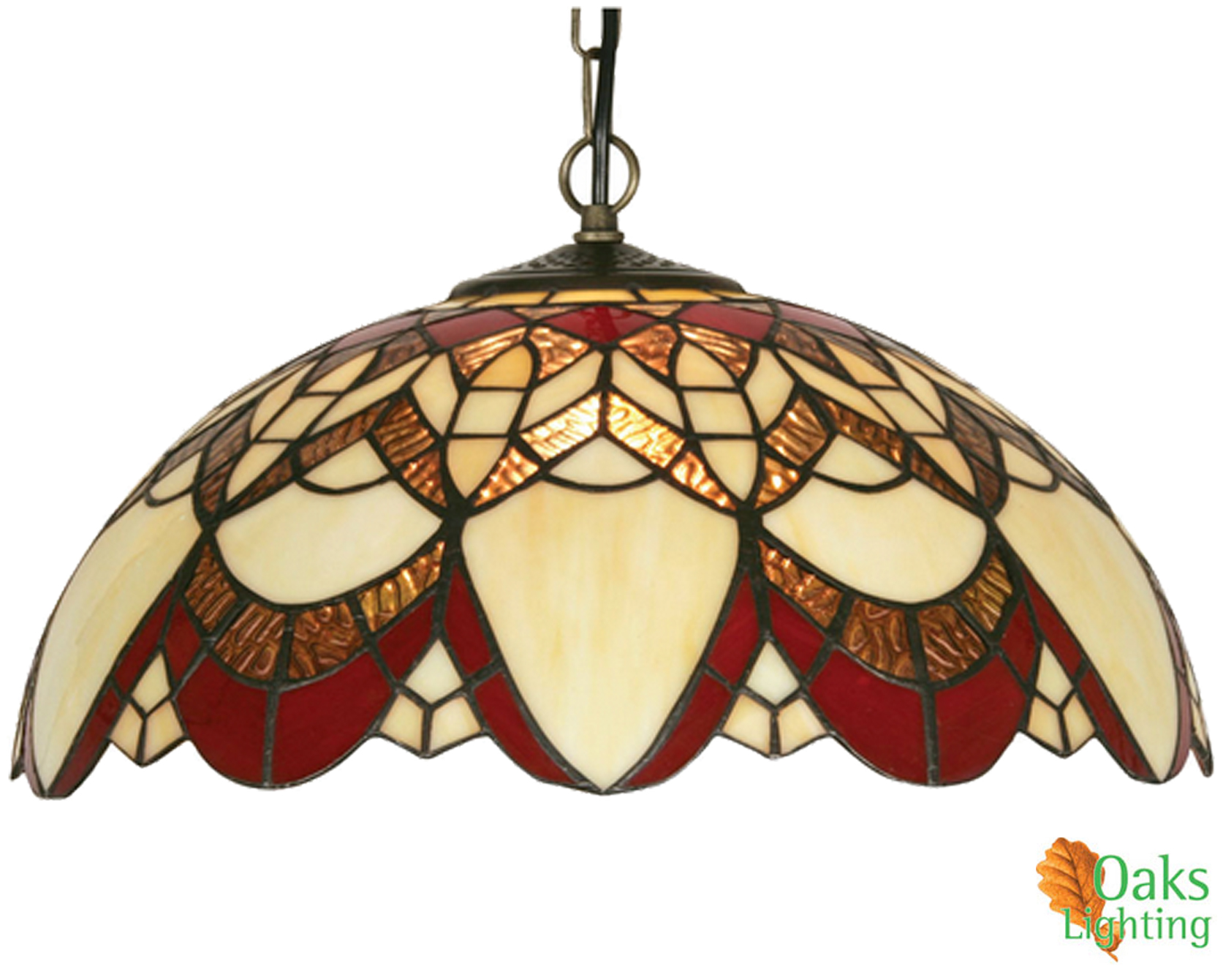 Oaks Lighting U0027Caiusu0027 Tiffany Ceiling Light   OT 5234/16 P None