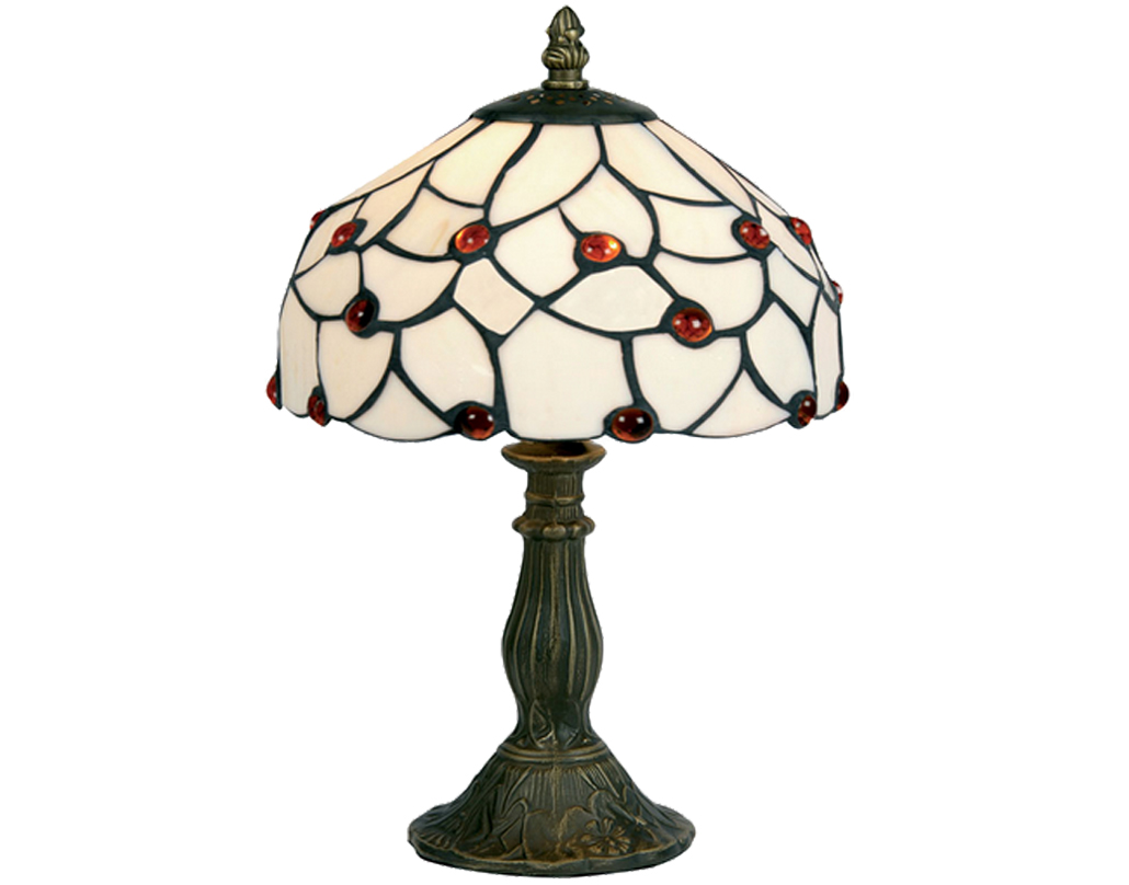 Oaks Lighting Amber Bead Tiffany Table Lamp - OT 60 AB