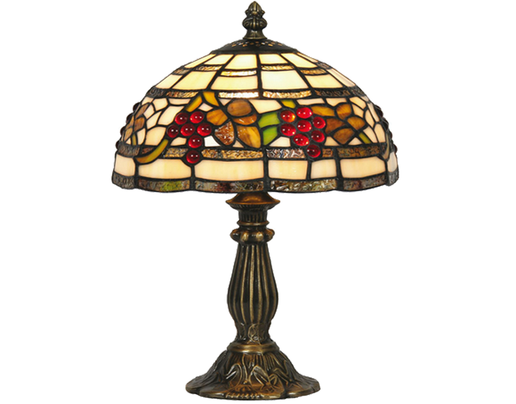 Oaks Lighting Grapes Tiffany Table Lamp - OT 6018/8 TL