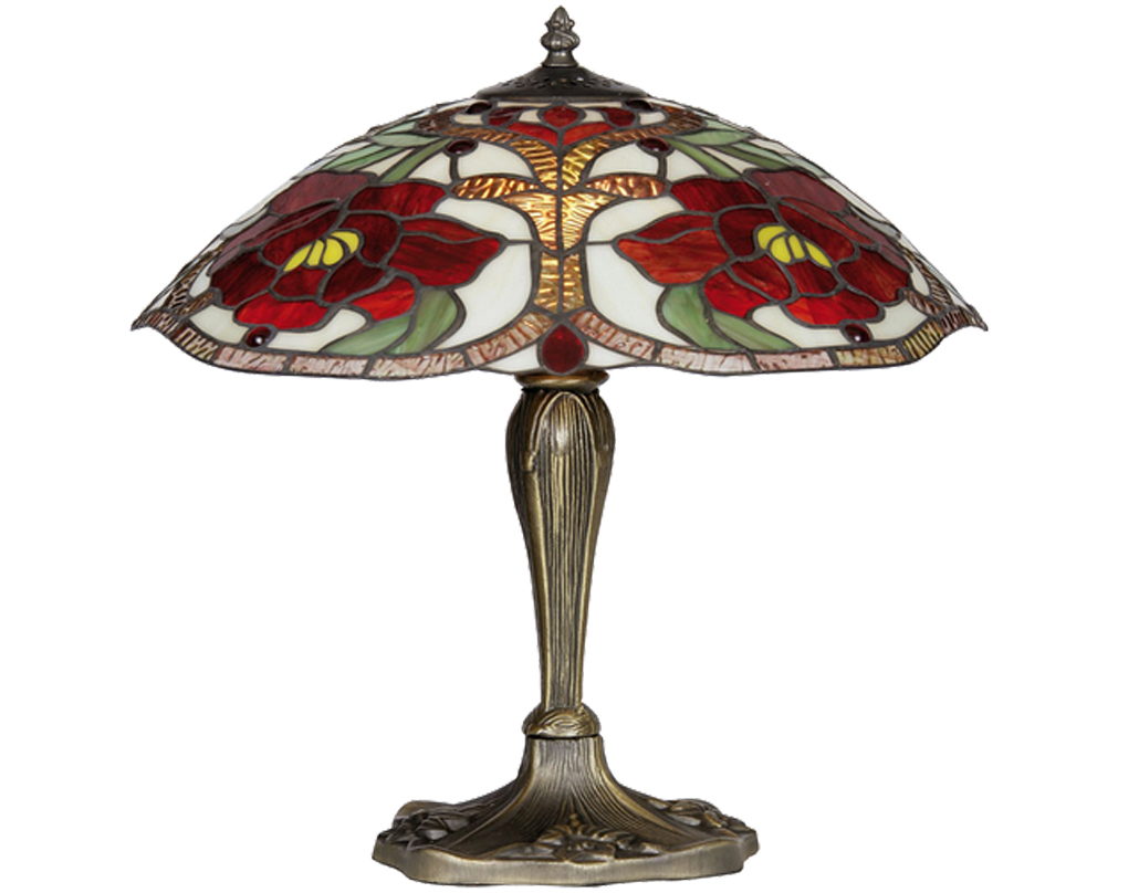 Oaks Lighting Rose Tiffany Table Lamp - OT 7402/16 TL