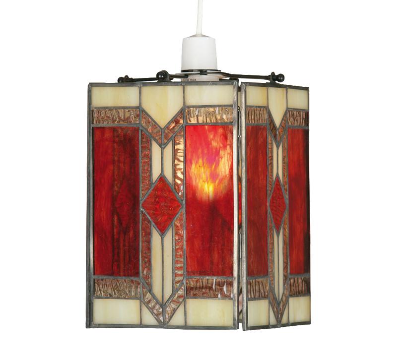 851a052564a2 Oaks Lighting Aztec Tiffany Non-Electric Ceiling Light - OT 2408 NE ...