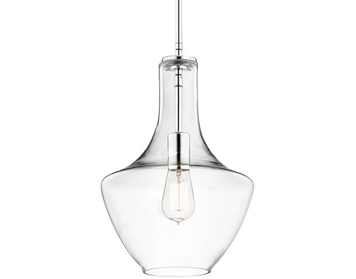 Elstead Hinkley Everly 1 Light Small Pendant, Chrome Finish - P3-KL/EVERLY/P/S CH