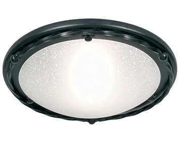 Elstead Pembroke Hand-Forged Flush Ceiling Light, Black - PB/F/BBLACK
