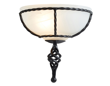 Elstead 'Pembroke' Hand-Forged Wall Uplighter, Black - PB/WUBLACK