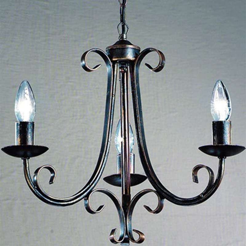 Franklite Babylon Bronze 5 Light Ceiling Fitting PE7545 From Easy Lighting