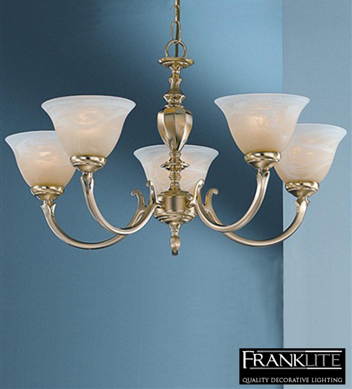 Brass Finish Ceiling Lights : Franklite miami satin polished brass finish light