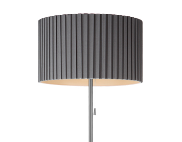 Azzardo Penelopa Floor Lamp, Grey Finish - AZ2399