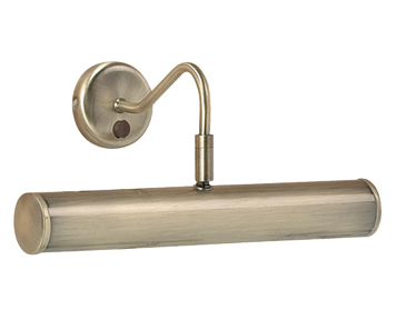 Endon Turner 2 Light Switched Wall Light, Antique Brass Finish - PL350-E14-SWAN