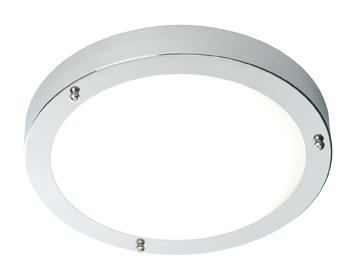 Endon Portico Flush Ceiling Light, Chrome Plate & Frosted Glass Finish - 59850