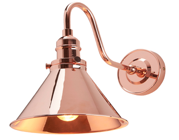 Elstead Provence 1 Light Wall, Polished Copper Finish - PV1 CPR