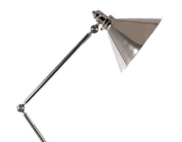Elstead Provence Floor Lamp, Polished Nickel Finish - PV/FLPN