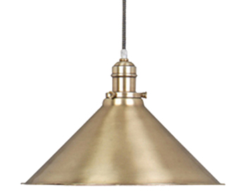 Elstead Provence 1 Light Rise & Fall Pendant, Aged Brass - PV/PAGB