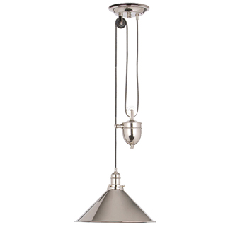 Elstead 'Provence' 1 Light Rise & Fall, Polished Nickel - PV/PPN
