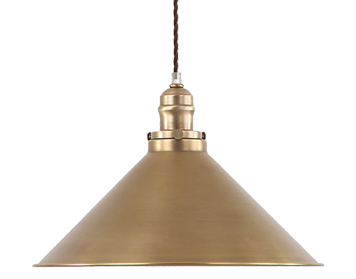 Elstead Provence 1 Light Pendant, Aged Brass - PV/SPAB