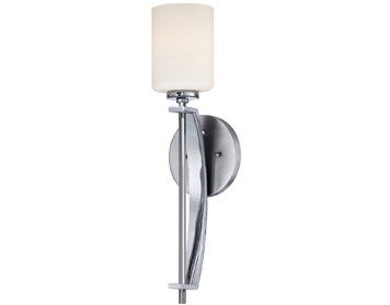 Elstead Quoizel Taylor 1 Light Large Bathroom Wall Light, Polished Chrome Finish - QZ/TAYLOR1L BATH