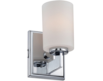 Elstead Quoizel Taylor 1 Light Small Bathroom Wall Light, Polished Chrome Finish - QZ/TAYLOR1S BATH