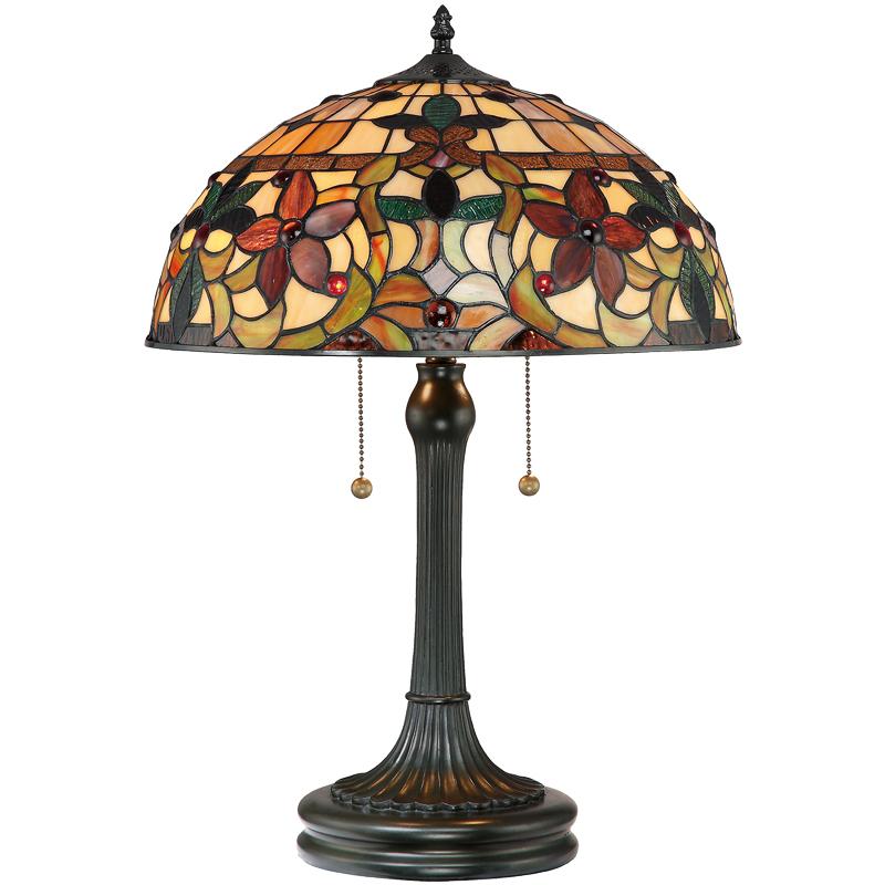 Elstead Quoizel u0027Kamiu0027 Table Lamp, Tiffany Glass - QZ/KAMI/TL