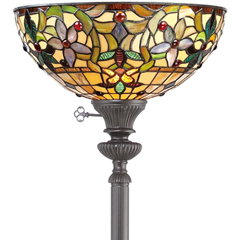 Wall Hugger Floor Lamp : Elstead Quoizel Kami Wall Uplighter, Tiffany Glass - QZ/KAMI/WU from Easy Lighting