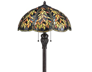 Elstead Quoizel Belle Tiffany Floor Lamp, Imperial Bronze - QZ/BELLE/FL
