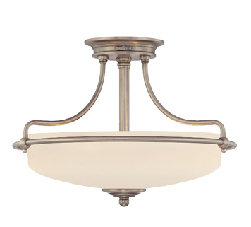 Elstead quoizel griffin 3 light semi flush ceiling light polished elstead quoizel griffin 3 light semi flush ceiling light antique nickel qzgriffin aloadofball Choice Image