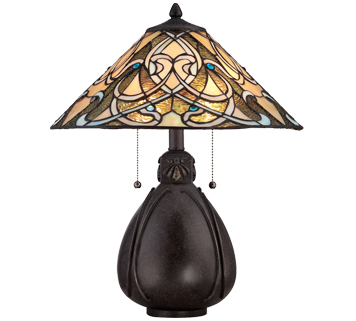 Elstead Quoizel India 2 Light Table Lamp, Imperial Bronze - QZ/INDIA/TL