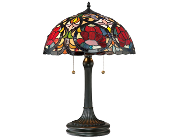 Elstead Quoizel Larissa Table Lamp, Tiffany Glass - QZ/LARISSA/TL