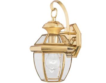 elstead quoizel newbury porch flush light polished brass qz