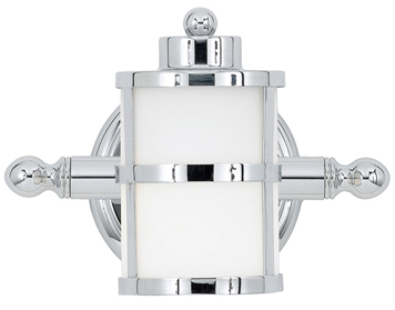 Elstead Quoizel Tranquil Bay Bathroom Wall Light, Polished Chrome - QZ/TRANQUILBAY1