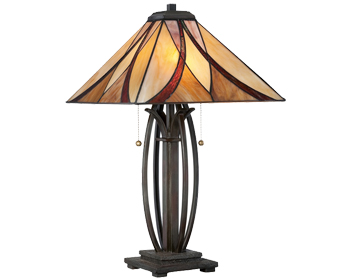 Elstead Quoizel Asheville Table Lamp, Valiant Bronze - QZ/ASHEVILLE/TL