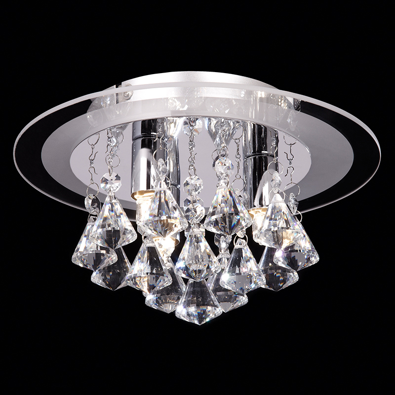 Flush ceiling lights crystal and glass from easy lighting endon renner crystal chrome small flush ceiling light renner 3ch mozeypictures Choice Image