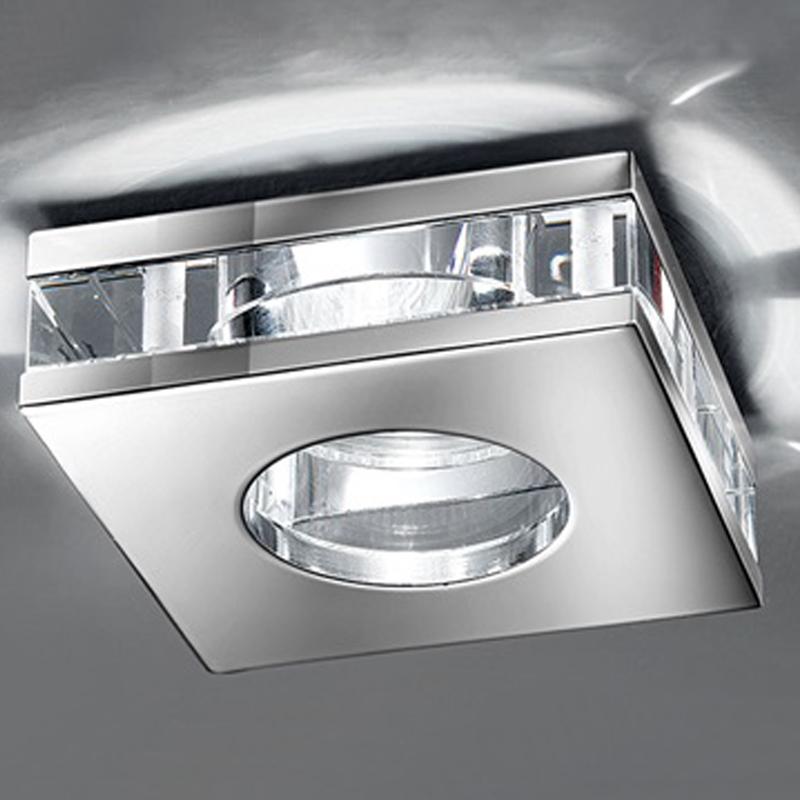 Low Voltage Bathroom Lighting: Franklite Low Voltage Bathroom Downlight IP65 Crystal