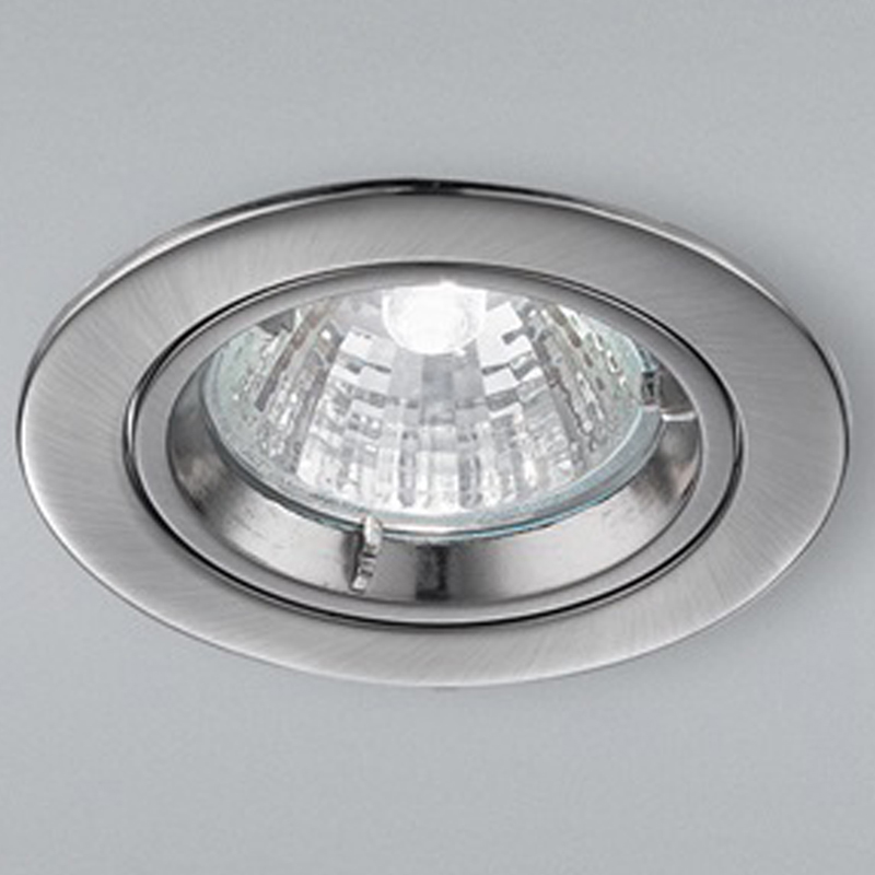 Franklite Satin Nickel Fire Rated & Acoustic Fixed Downlight - RF282