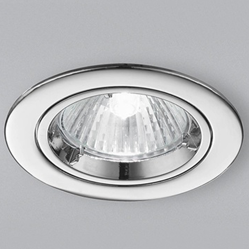 Franklite Chrome Fire Rated & Accoustic Fixed Downlight - RF286