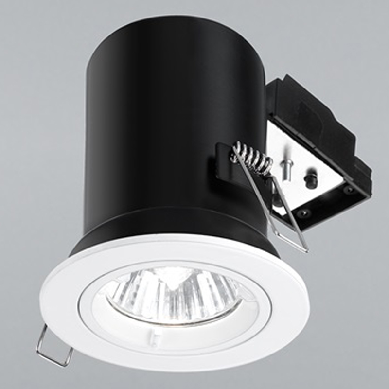 Franklite White Fire Rated & Accoustic Fixed Downlight - RF287