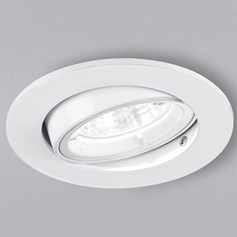 Franklite White Fire Rated & Acoustic 25 Degree Tilt Downlight - RF294