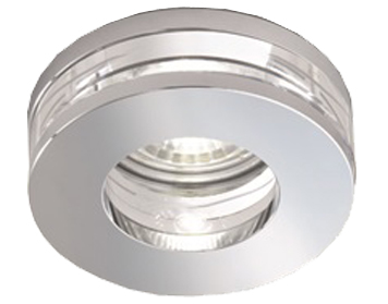 Franklite Low Voltage Bathroom Downlight, Crystal & Chrome - RF266