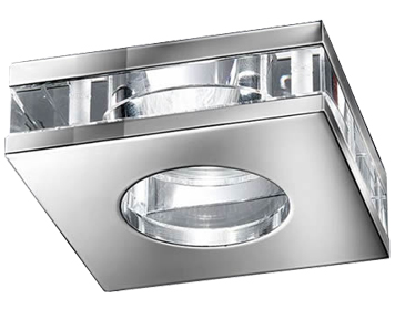 Franklite Low Voltage Crystal Downlight, Chrome With Crystal Glass - RF267