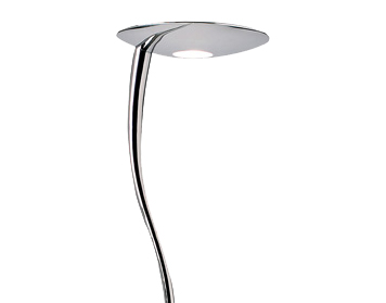 Endon Rimini Floor Lamp With Push Button Memory Dimmer, Chrome Plate Finish With Frosted Glass - RIMINI-CH