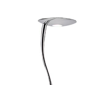 Endon U0027Riminiu0027 Floor Lamp With Push Button Memory Dimmer, Polished Chrome    RIMINI