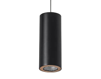 Leds C4 Pipe Ceiling Pendant Light, Matt Black/Gold Finish - SALE-00-0073-05-23