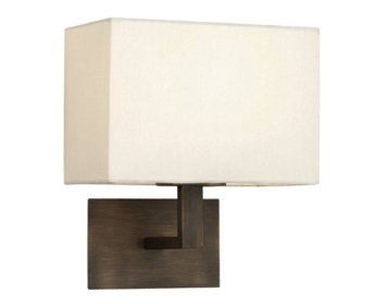 Astro Connaught Wall Light, Bronze Finish With White Fabric Shade - SALE-0500
