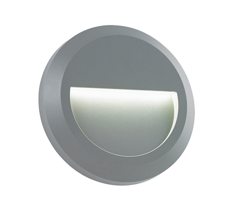 Endon Severus LED Round Outdoor Downlight, Grey ABS Plastic & Clear Polycarbonate - SALE-EL-40109 Clearance