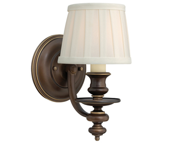 Elstead Hinkley Dunhill Single Wall Light, Royal Bronze - SALE-HK/DUNHILL1