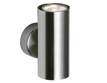 Endon Odi 2 Light Up & Down Wall Light, Satin Nickel Plate - SALE-OD51004