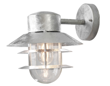 Konstsmide Modena 1 Light Outdoor Wall Light, Galvanised Steel Finish - SALE-7310-320