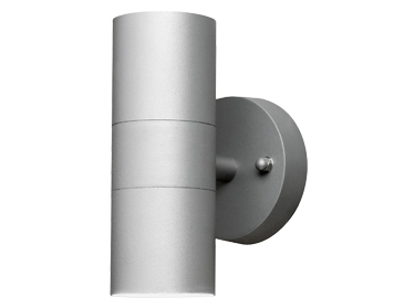 Konstsmide Modena 2 Light Outdoor Up & Down Wall Light, Grey Finish - SALE-7571-300