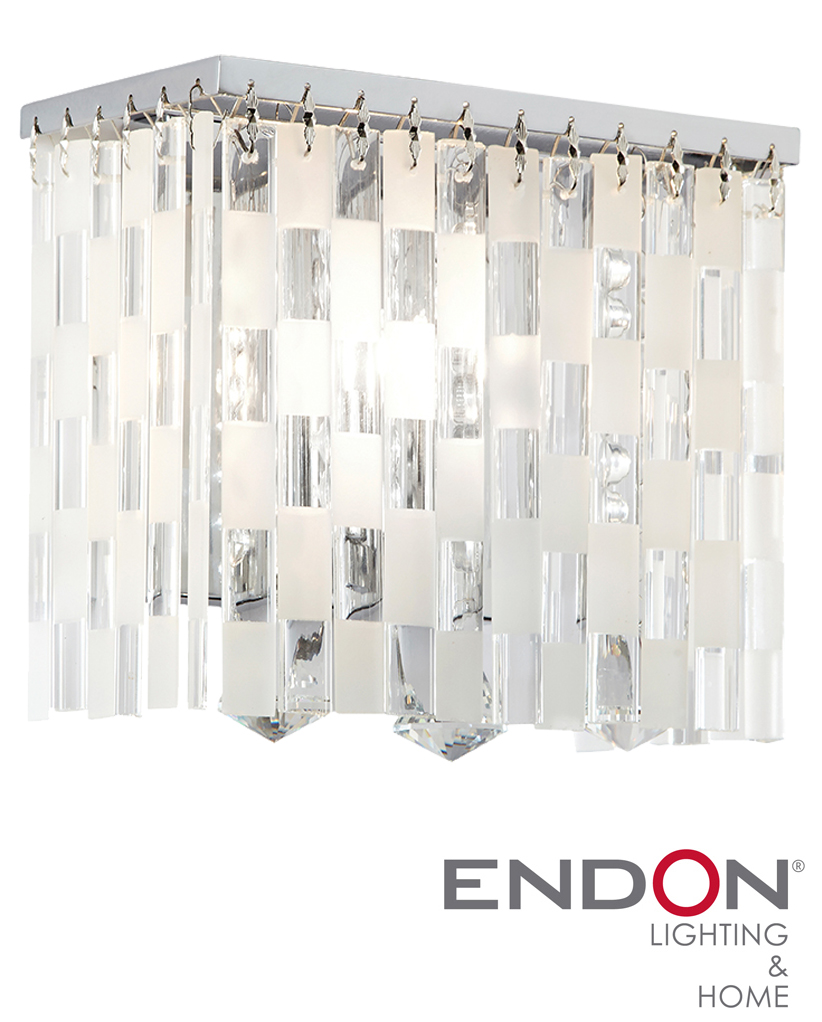 Endon Santini Glass Crystal Wall Light - SANTINI-1WB from Easy Lighting