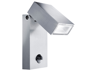 Searchlight 1 Light Outdoor PIR LED Wall Light, Stainless Steel Finish - SEA 7585