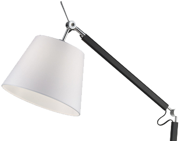 Franklite Adjustable Floor Lamp, Chrome & Black Finish With Fabric Shade - SL230